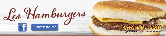 LA PATATE DU COIN – Les Hamburgers