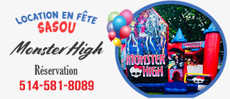 Jeux gonflable Monster High – Location en Fête Sasou