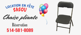 Sasou - Location de chaise pliante Laval